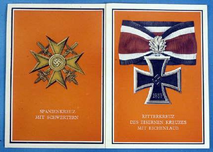 西班牙十字和橡叶级骑士铁十字